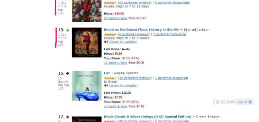 Michael Jackson Amazon Top