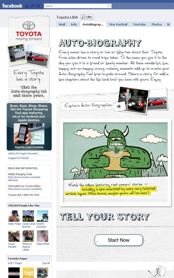 04 Toyota USA 22 Inspiring Examples of Facebook Page Designs