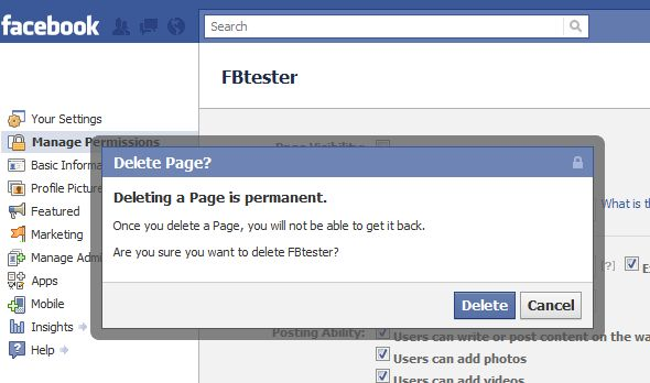 What do you think does facebook page management need more permission