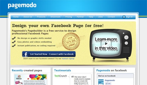 Facebook page tools Pagemodo
