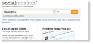 socialmention 69 Free Social Media Monitoring Tools [UPDATE 2013]