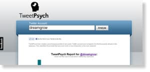 tweetpsych 48 Free Social Media Monitoring Tools