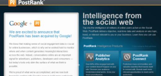 postrank acquired google