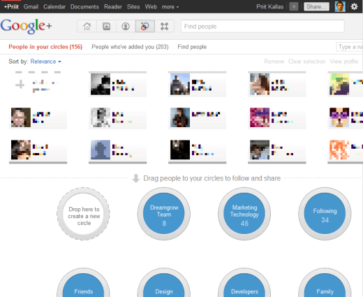google plus circles Taking Advantage of Google+