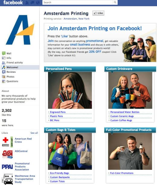 amsterdam 520x610 26 Great Facebook Landing Page Examples