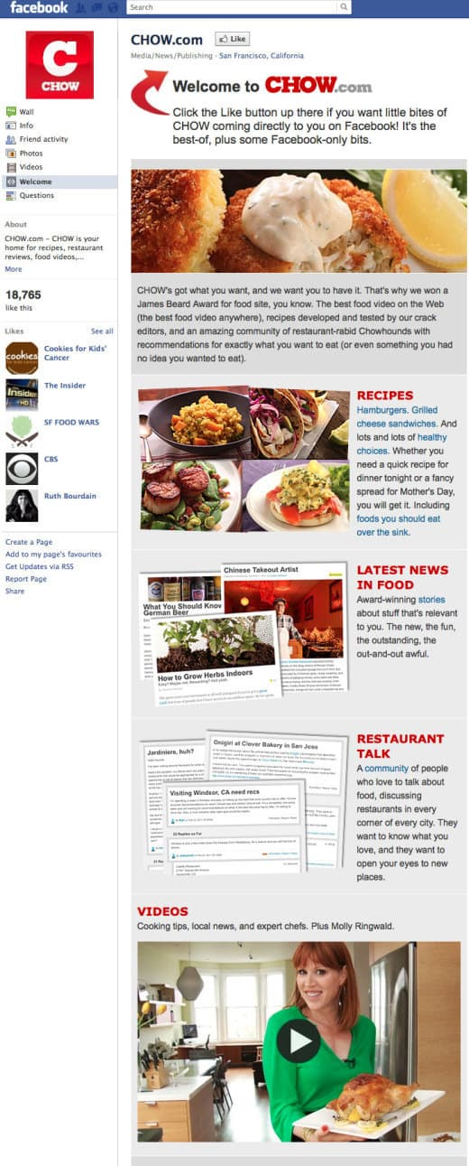 chow 520x1291 26 Great Facebook Landing Page Examples