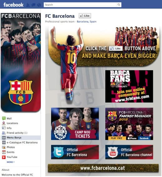 fcbarcelona1 520x565 26 Great Facebook Landing Page Examples