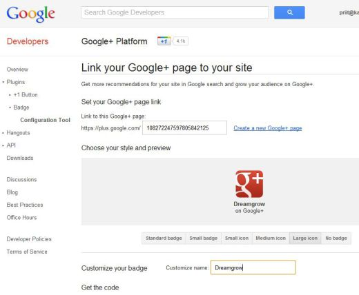 google plus page badge 1 520x428 How to Create a Google+ Page for Your Brand