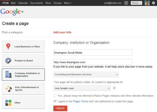 google plus page business 2 520x370 How to Create a Google+ Page for Your Brand