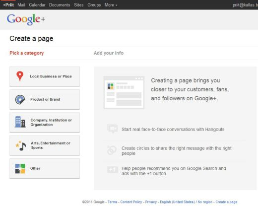 google plus page create 520x415 How to Create a Google+ Page for Your Brand