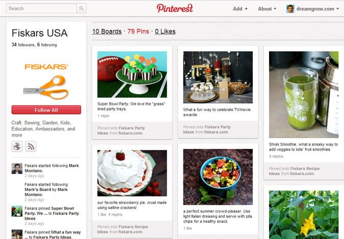 pinterest brand pages fiskars usa 41 Great Examples of Pinterest Brand Pages