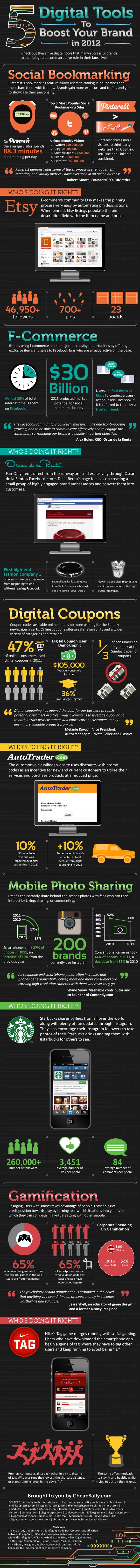 2012 digital tools 5 Digital Tools to Boost your Brand in 2012 [Infographic]
