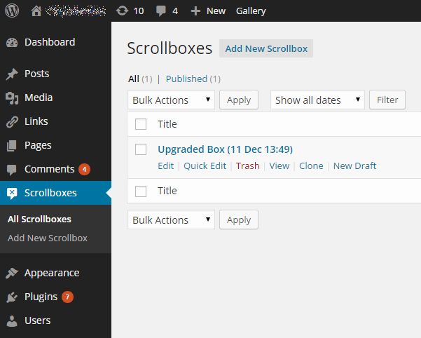scroll triggered box settings Dreamgrow Scroll Triggered Boxes WordPress plugin