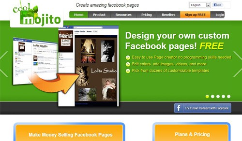 Coolmojito Free Facebook Page Creation Tools
