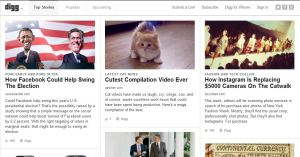 digg 300x157 Stay In the Know: 5 Great Social News Sites