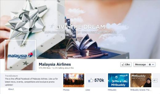 malaysia 520x306 16 Great Airline Facebook Page Examples