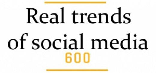 Real trends of social media