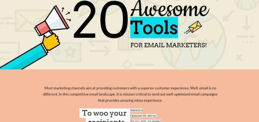 top 20 email marketing tools infographic cover