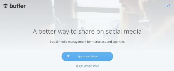 buffer content marketing management tool