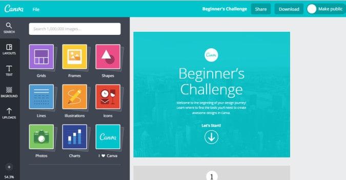 canva content design tool