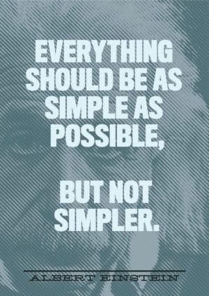 usability simple einstein quote