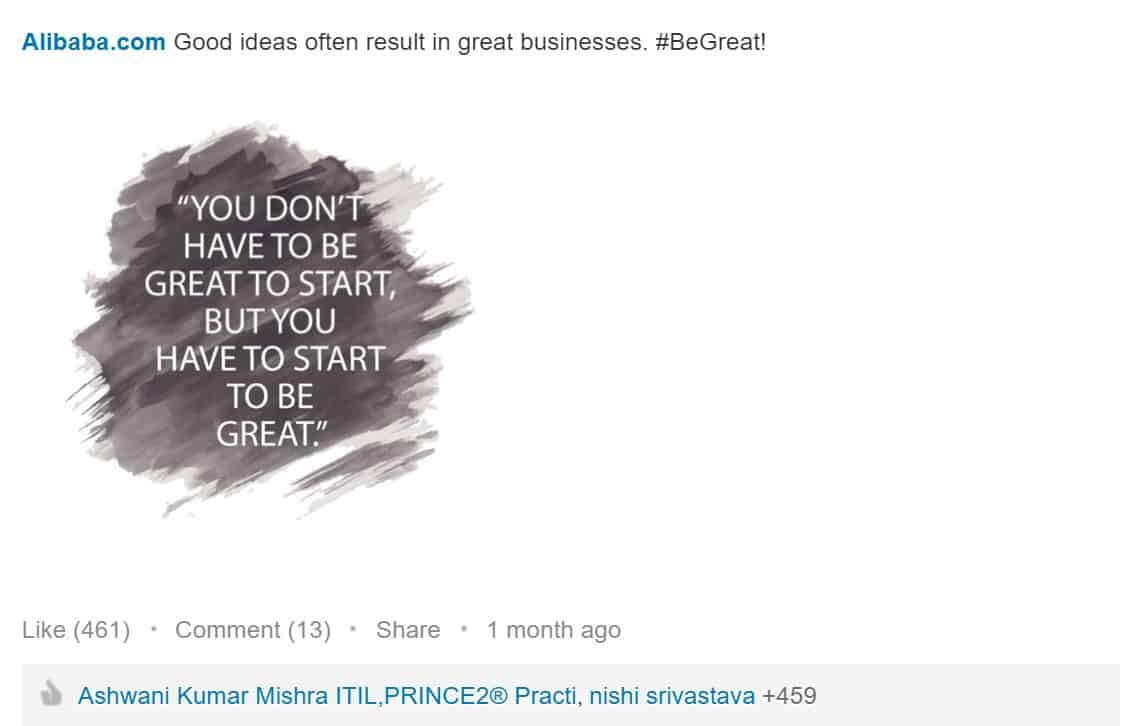 LinkedIn-inspiring-content-Alibaba