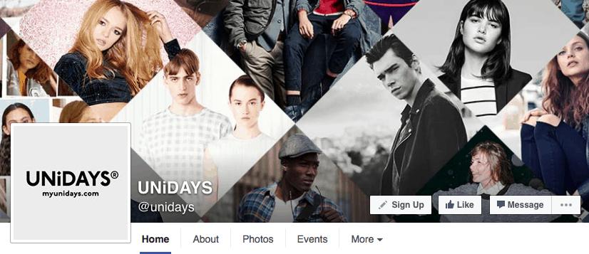 unidays-facebook-page