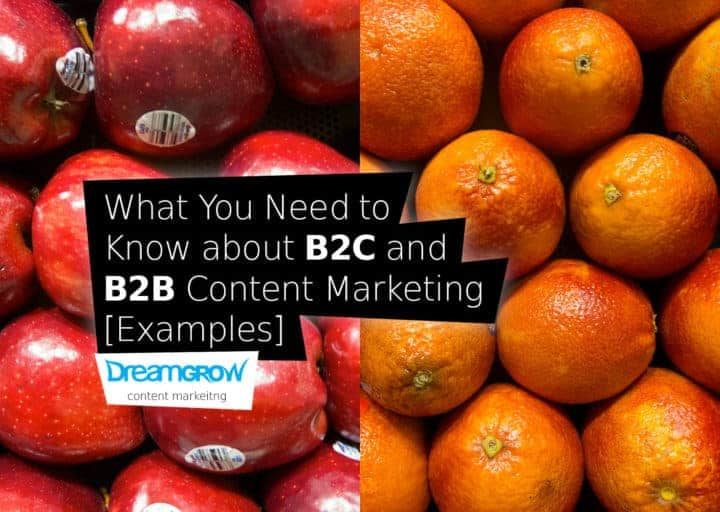 b2c and b2b content marketing examples