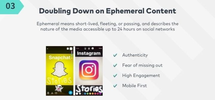 social media marketing trends ephemeral content