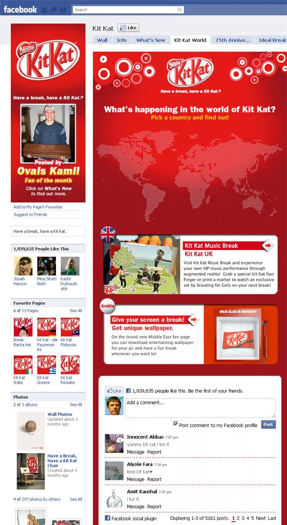02 Kit Kat 22 Inspiring Examples of Facebook Page Designs