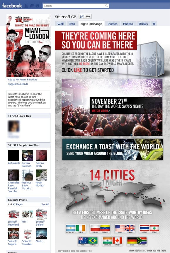 06 Smirnoff GB 22 Inspiring Examples of Facebook Page Designs