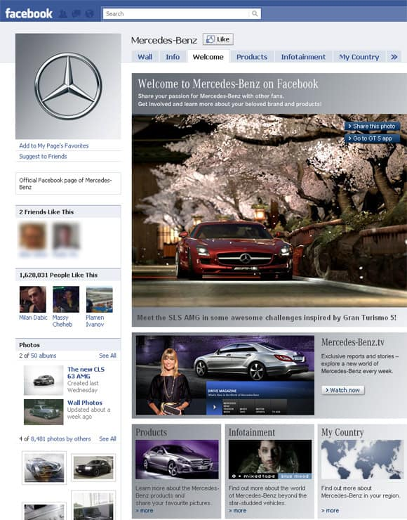 Mercedes-Benz Facebook Page