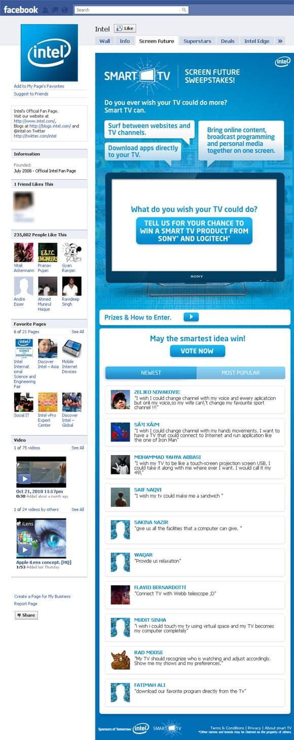 Intel Facebook Page