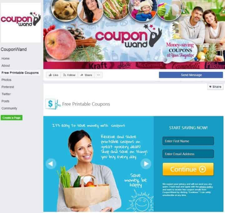 facebook cover image couponwand