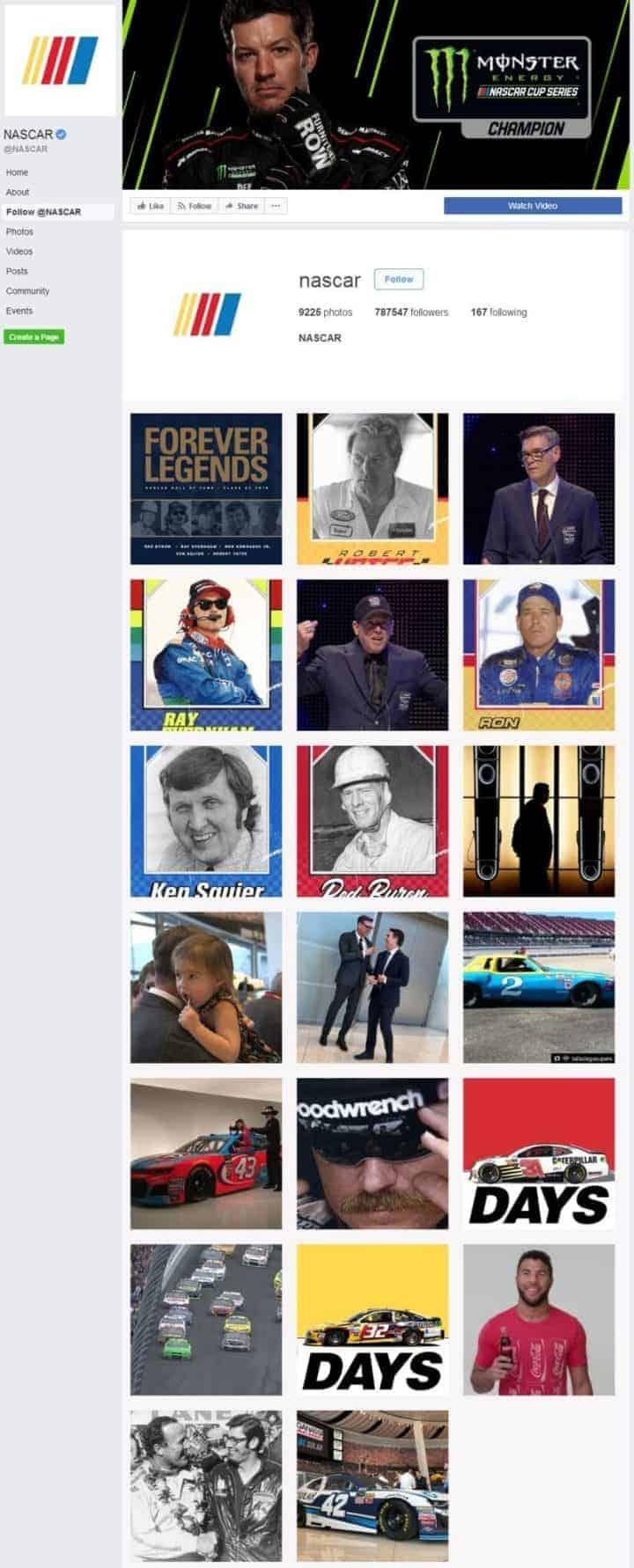 facebook cover image nascar