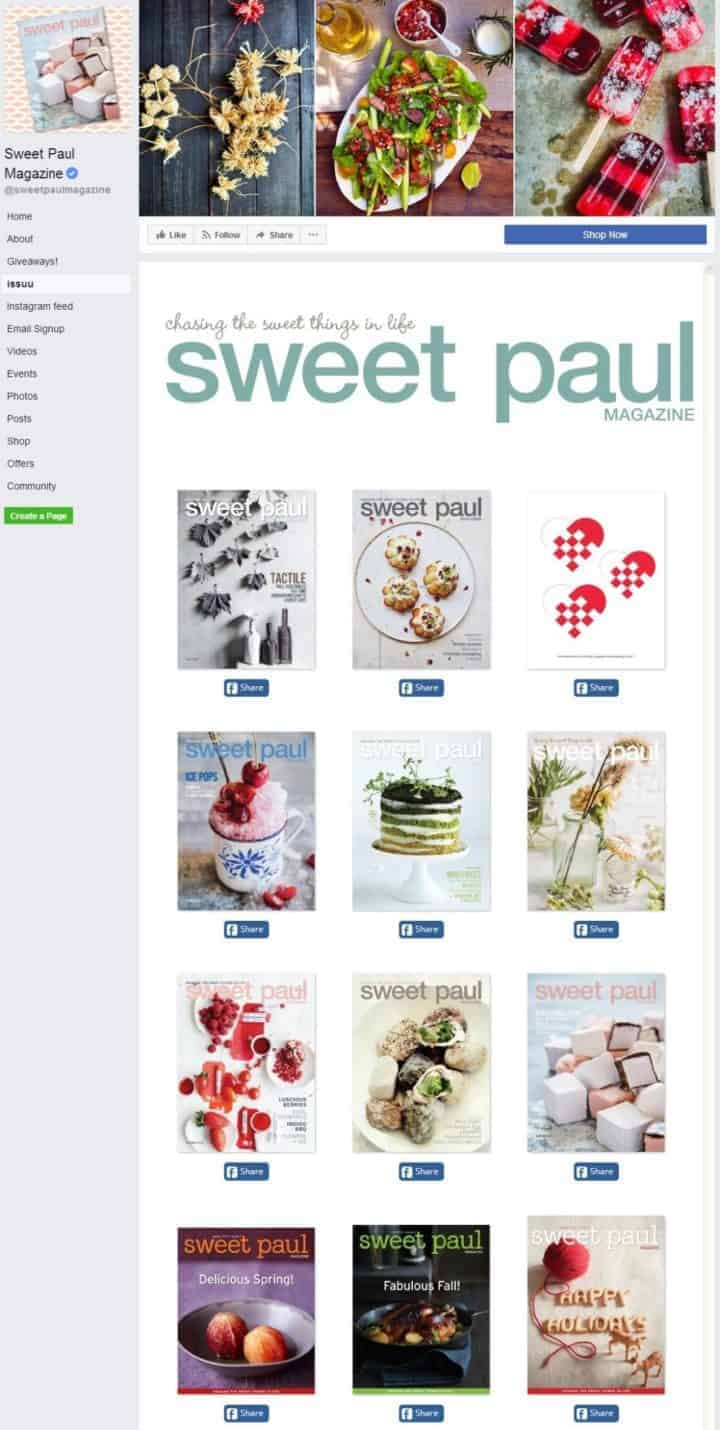 facebook cover image sweet paul issuu