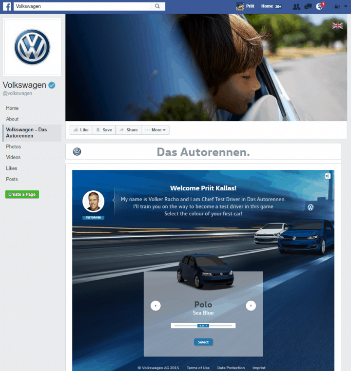 vw facebook page