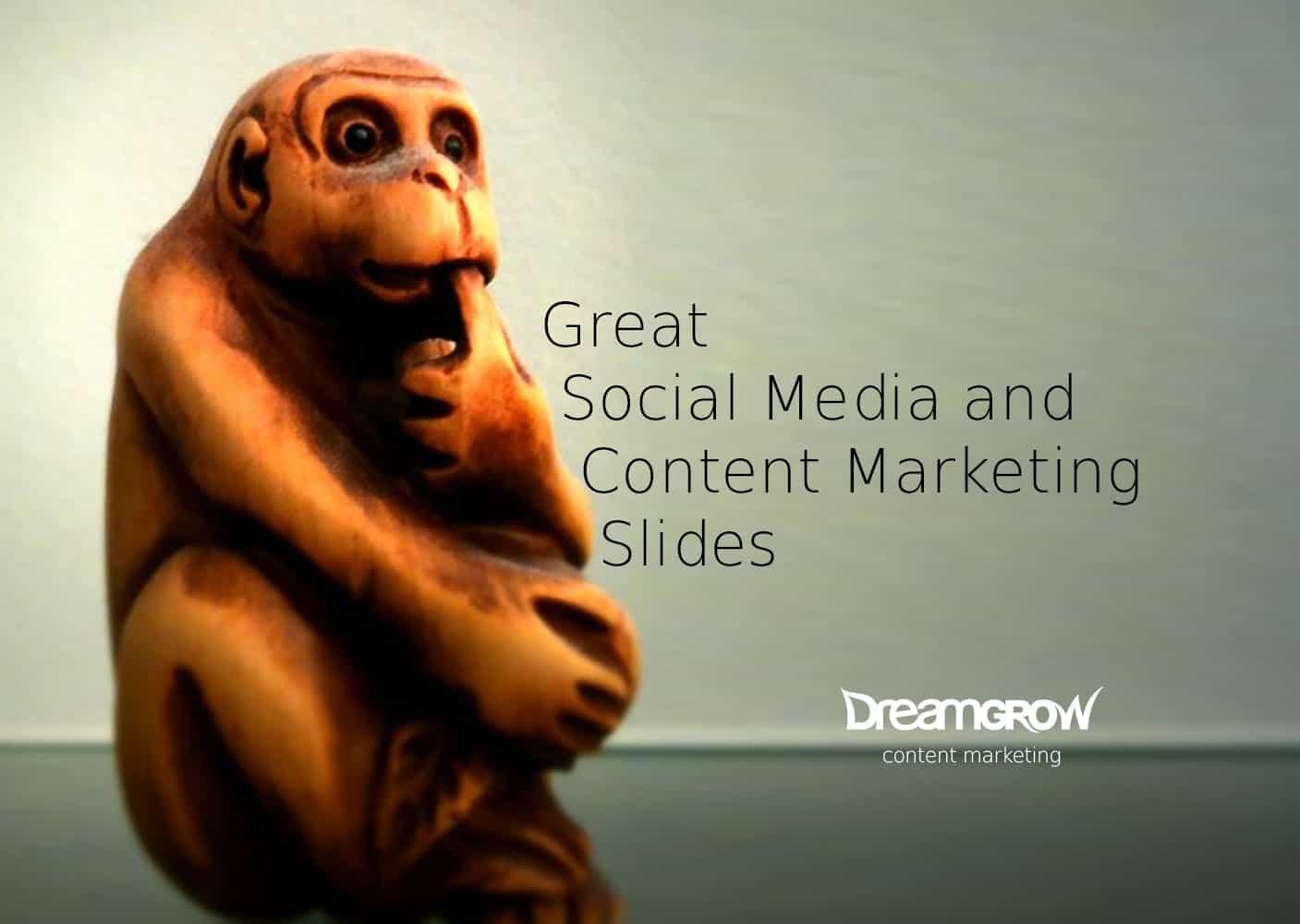 social media content marketing slides