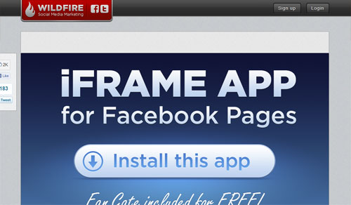 facebook page tools wildfire iframe 4 Free Facebook Landing Page Creation Tools