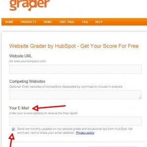 Website Grader by HubSpot 300x300 20 Tips to Grow Your Mailing List