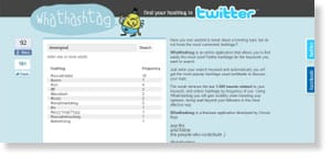 whathashtag 54 Free Social Media Monitoring Tools [Update2012]