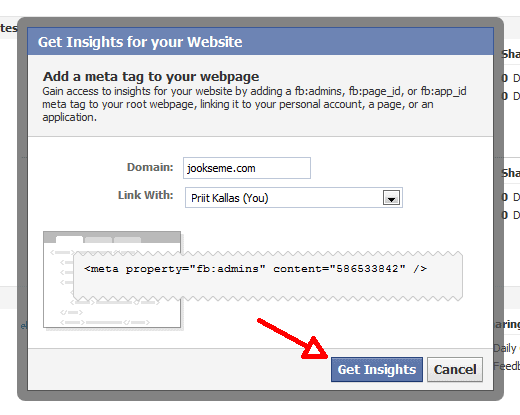 facebook insights for websites