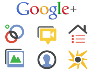 google plus icons Google+ Marketing