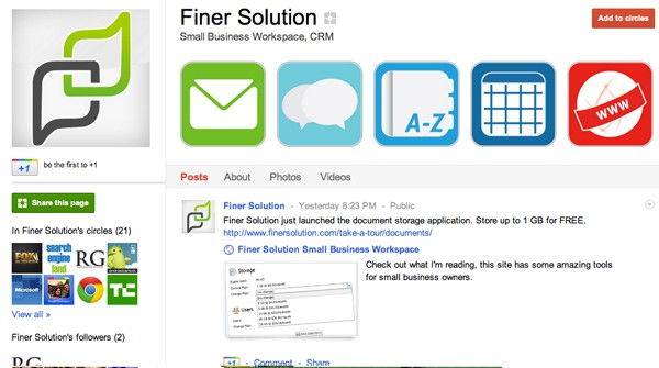 finersolution 13 Cool Examples of Google+ Brand Pages