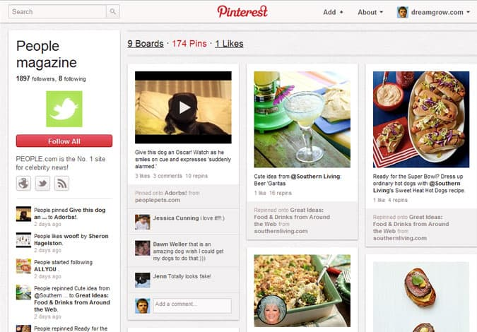 pinterest brand pages people magazine 41 Great Examples of Pinterest Brand Pages