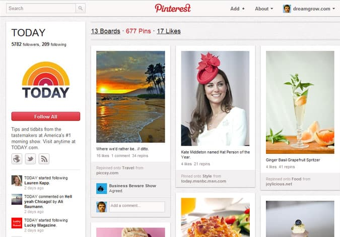 pinterest brand pages today 41 Great Examples of Pinterest Brand Pages