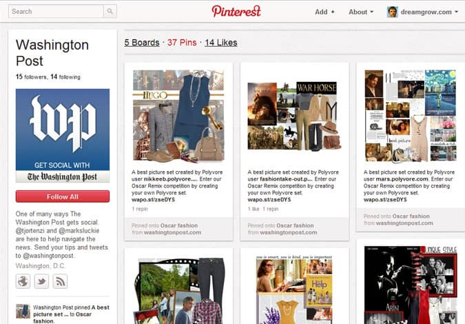 pinterest brand pages washington post 41 Great Examples of Pinterest Brand Pages