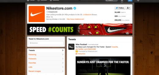 nikestore twitter brand page