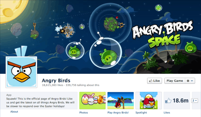 angry birds facebook cover photo 675x395 23 Cool Examples of Facebook Page Cover Photos