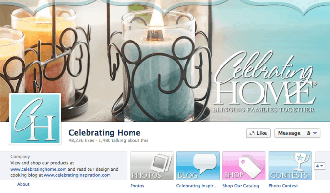 celebrating home socialbakers facebook cover photo 675x395 23 Cool Examples of Facebook Page Cover Photos